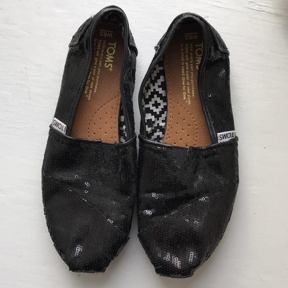 7048785438fa Toms Shoes | Black Sequin | Poshmark